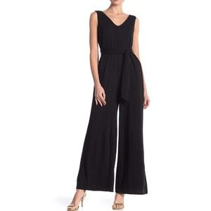 NWT Max Studio Wide Leg Jumpsuit Black Dress New